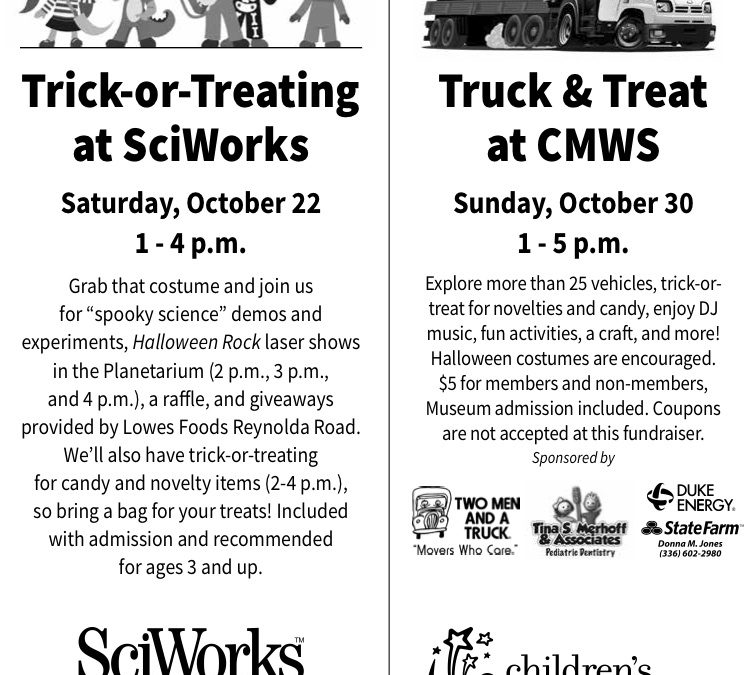 Halloween at CMWS and SciWorks